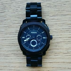 Mens chain linked fossil watch